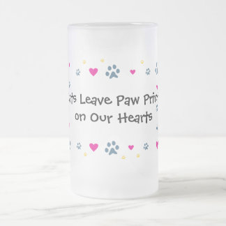 Cats Leave Paw Prints on Our Hearts Mugs