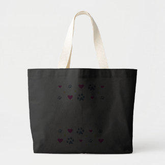 Cats Leave Paw Prints on Our Hearts Jumbo Tote Bag