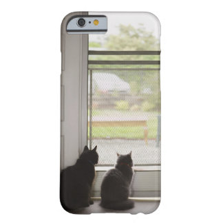 Cats looking out screen door barely there iPhone 6 case