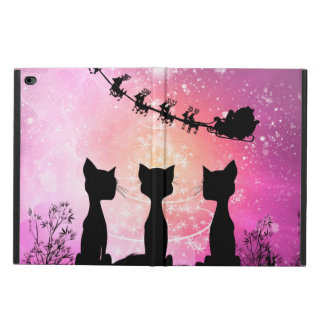 Cats looks to the sky to Santa Claus Powis iPad Air 2 Case