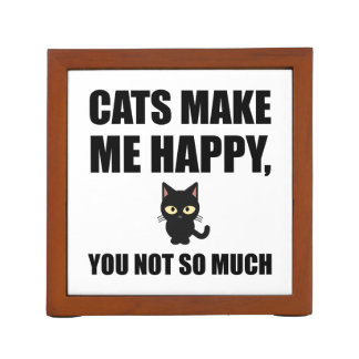 Cats Make Me Happy You Not So Much Funny Desk Organiser