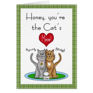Cat's Meow Anniversary Card