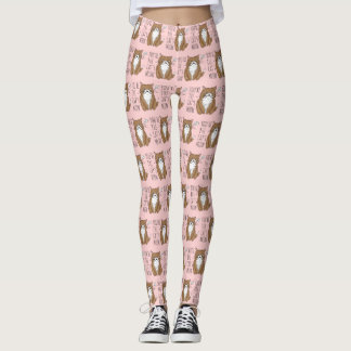 Cat's Meow Blush Pink Fashion Leggings