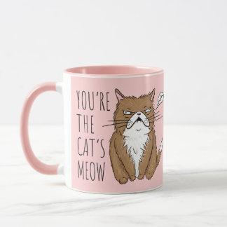 Cat's Meow Blush Pink Funny Meh Mug