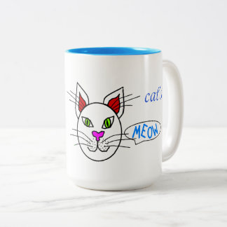 Cat's Meow Two-Tone Coffee Mug