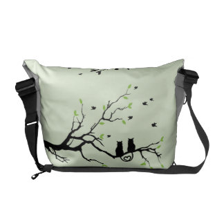 cats messenger bag