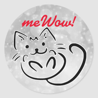 Cat's meWOW Sparkle Customisable Good Job Sticker