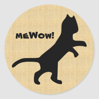 Cat's meWOW Wood Customisable Great Job Sticker