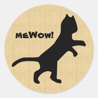 Cat's meWOW Wood Customizable Great Job Sticker
