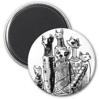 cats_mummies_seffaf 6 cm round magnet