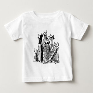 cats_mummies_seffaf baby T-Shirt