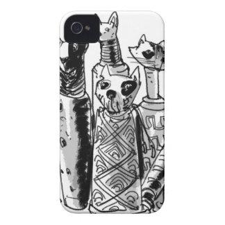 cats_mummies_seffaf iPhone 4 case