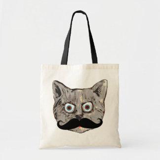 cat's mustache tote bag