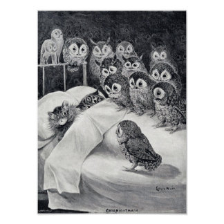 Cats Nightmare, Louis Wain Poster