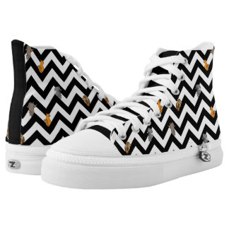 Cats on a Chevron Printed Shoes