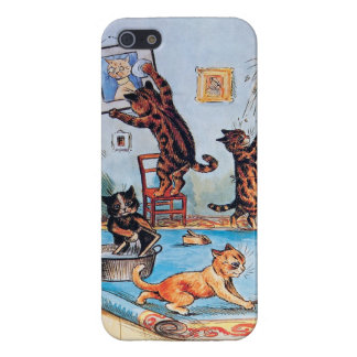 Cats on a Cleaning Spree by Louis Wain iPhone 5/5S Case