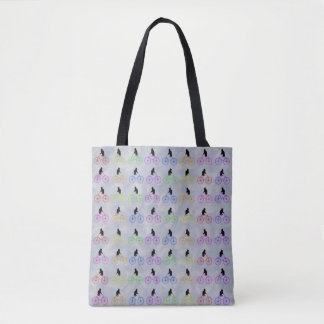 Cats on Bikes Tote Bag