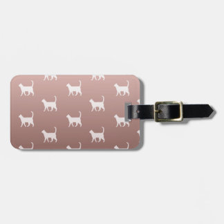 Cats on Rose Gold Bag Tag