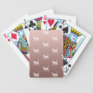 Cats on Rose Gold Bicycle Playing Cards
