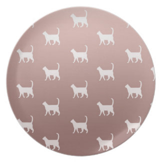 Cats on Rose Gold Plate