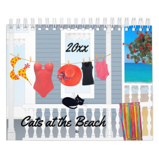 Cats on the Beach Calendar