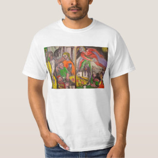 Cats painting by Olga Budker T-Shirt