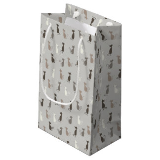 Cats pattern small gift bag
