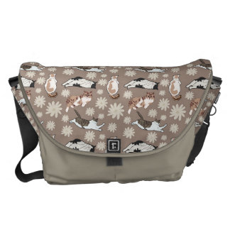 Cats patterns courier bag