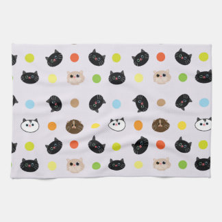 cats patterns hand towels
