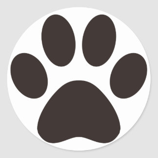 CAT'S_PAW CLASSIC ROUND STICKER