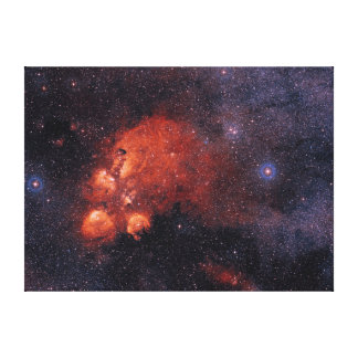 Cat's Paw Nebula NGC 6334 Bear Claw Gum 64 Stretched Canvas Print