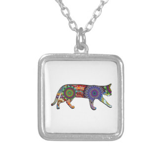 Cat's Play Silver Plated Necklace