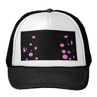 Cats Polka Dot Cats Ball Cap Hat 2 CricketDiane