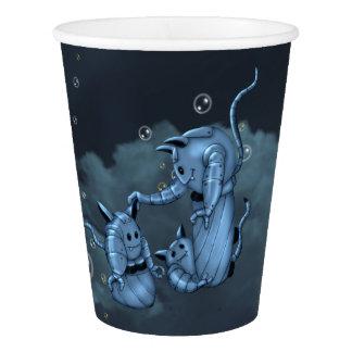 CATS ROBOTS ALIENS CARTOON Paper Cup, 9 oz Paper Cup