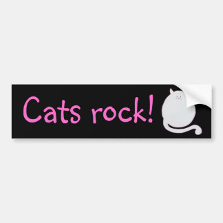 Cats Rock! bumper sticker