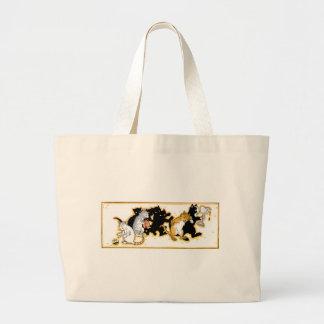Cats Romping Artwork Jumbo Tote Bag