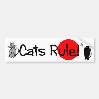 """""""Cats Rule"""" Bumper Sticker"""