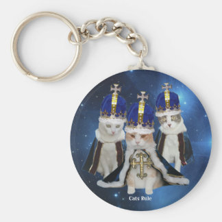 Cats Rule Key Ring