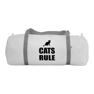 Cats Rule Paw Pet Fan Gym Bag