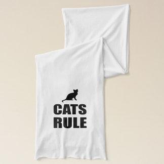 Cats Rule Paw Pet Fan Scarf