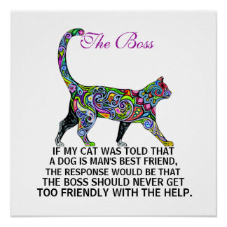 Cats Rule - The Boss - Poster - srf
