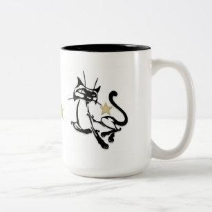 Cats Siamese Royalty Two-Tone Coffee Mug
