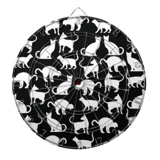 cats silhouette dartboard