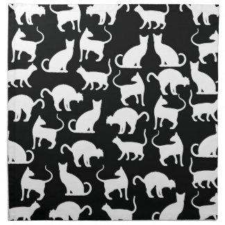 cats silhouette napkin