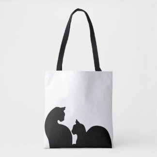 Cats Silhouette Tote Bag