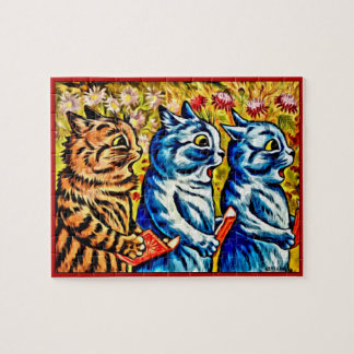 CATS SINGING Jigsaw Puzzle, Louis Wain's Cats Jigsaw Puzzle