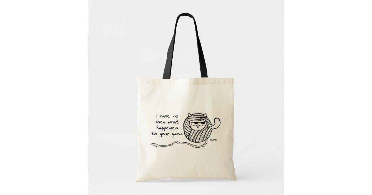 cbea010f358e Cats Steal Yarn - Funny Tote Bag | Zazzle.com.au