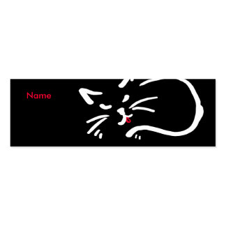 Cat's tongue business cards