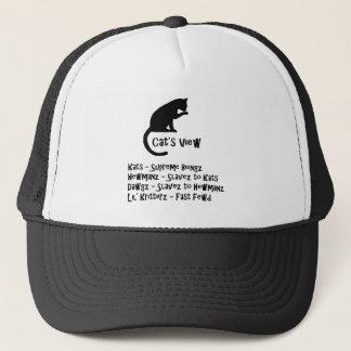Cat's View Funny Cat Hat