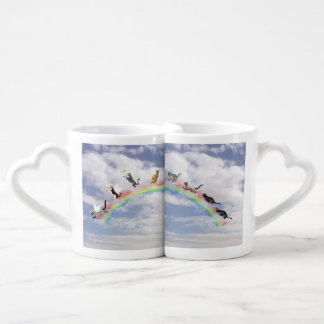 Cats Waiting At Rainbow Bridge Coffee Mug Set